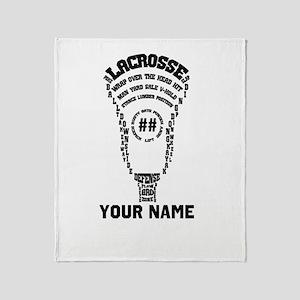 Lacrosse Head D Pers Throw Blanket