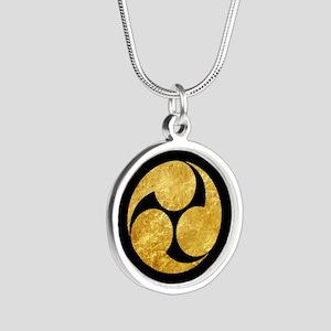 Kobayakawa Mon Japanese clan gold on black Necklac