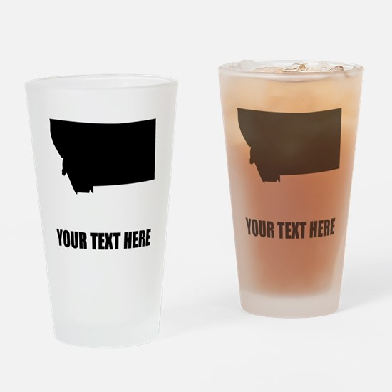 Custom Montana Silhouette Drinking Glass