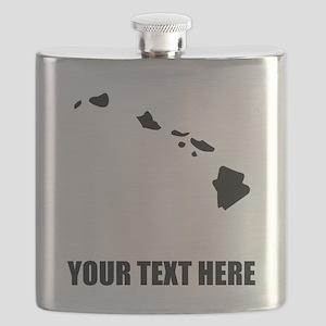 Custom Hawaii Silhouette Flask