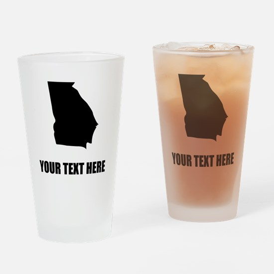 Custom Georgia Silhouette Drinking Glass