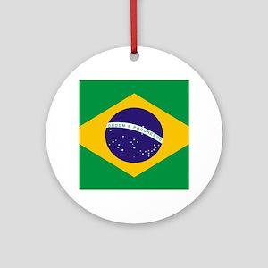Brasil Flag Round Ornament