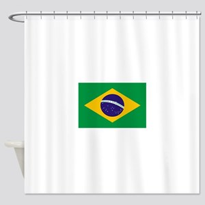 Brasil Flag Shower Curtain
