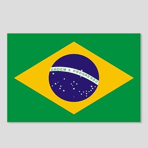 Brasil Flag Postcards (Package of 8)