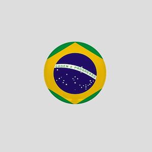 Brasil Flag Mini Button
