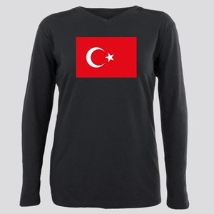 Turkey Flag Plus Size Long Sleeve Tee
