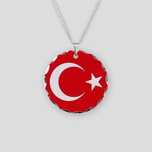Turkey Flag Necklace Circle Charm