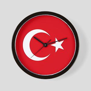 Turkey Flag Wall Clock