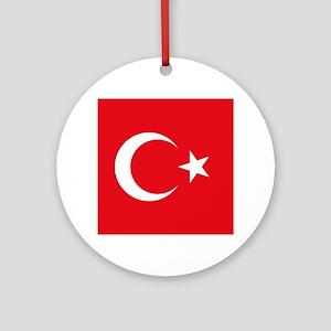 Turkey Flag Round Ornament