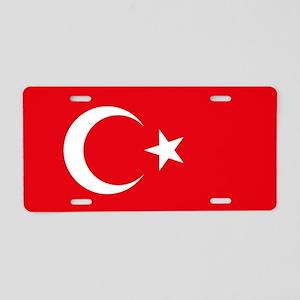 Turkey Flag Aluminum License Plate