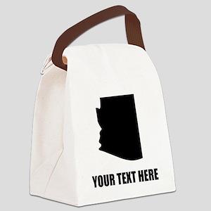 Custom Arizona Silhouette Canvas Lunch Bag