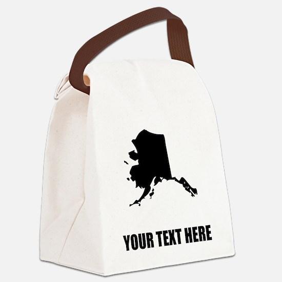 Custom Alaska Silhouette Canvas Lunch Bag