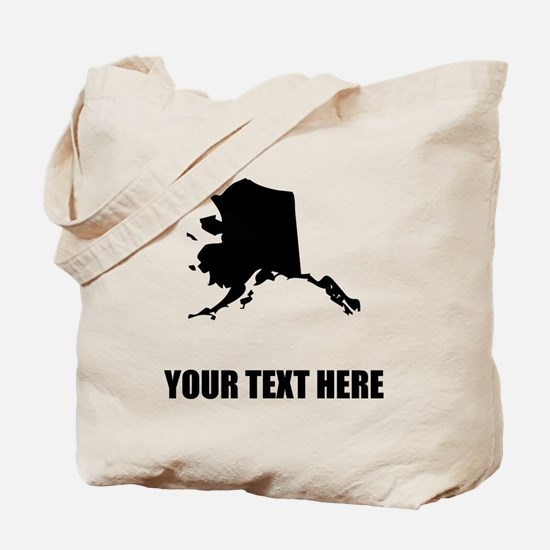 Custom Alaska Silhouette Tote Bag