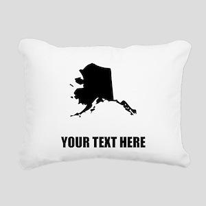 Custom Alaska Silhouette Rectangular Canvas Pillow
