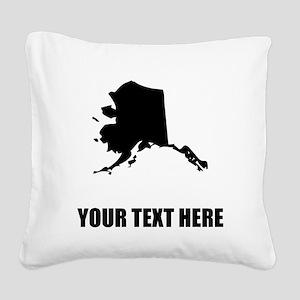 Custom Alaska Silhouette Square Canvas Pillow
