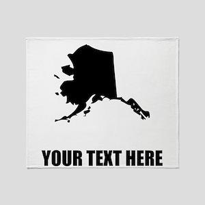 Custom Alaska Silhouette Throw Blanket