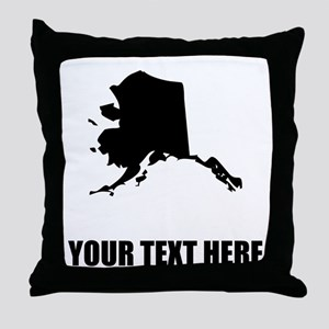 Custom Alaska Silhouette Throw Pillow