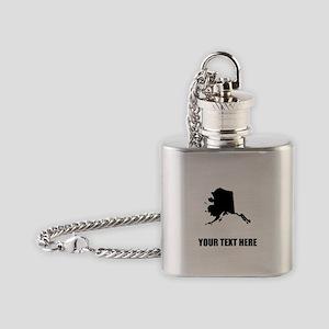 Custom Alaska Silhouette Flask Necklace