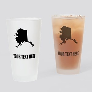 Custom Alaska Silhouette Drinking Glass