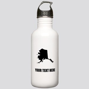 Custom Alaska Silhouette Water Bottle