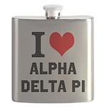 I Love Alpha Delta Pi Flask