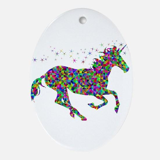 Unicorn Oval Ornament