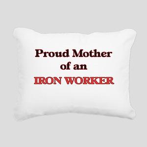 Proud Mother of a Iron W Rectangular Canvas Pillow
