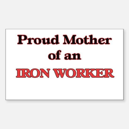 Proud Mother of a Iron Worker Decal