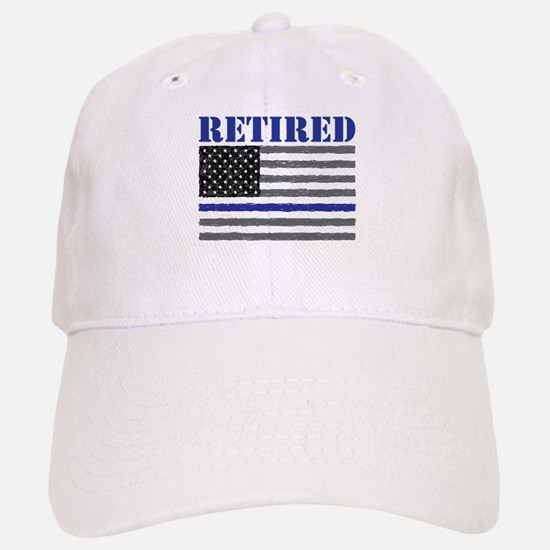 Thin Blue Line Retired Baseball Baseball Cap