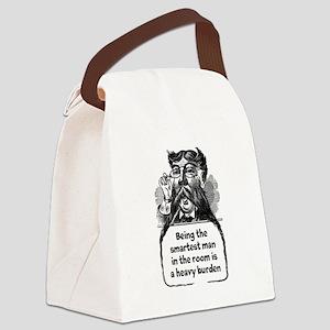 Smartest Man Canvas Lunch Bag