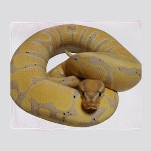 banana ball python Throw Blanket