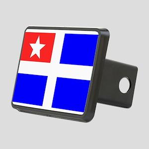Cretan flag Rectangular Hitch Cover