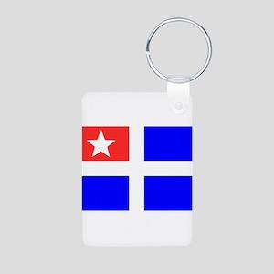 Cretan flag Aluminum Photo Keychain