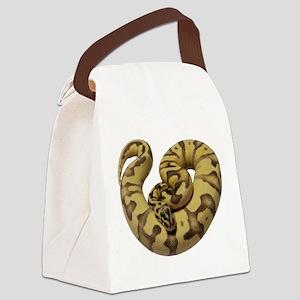 Enchi Fire ball python Canvas Lunch Bag