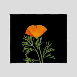 Golden Poppy Throw Blanket