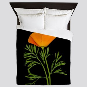 Golden Poppy Queen Duvet