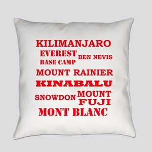 Multi Mountains 2 Everyday Pillow