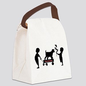 Totes MaGoats Kid Goat Canvas Lunch Bag