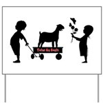 Totes MaGoats Nubian Goat Yard Sign