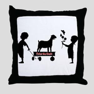Totes MaGoats Nubian Goat Throw Pillow