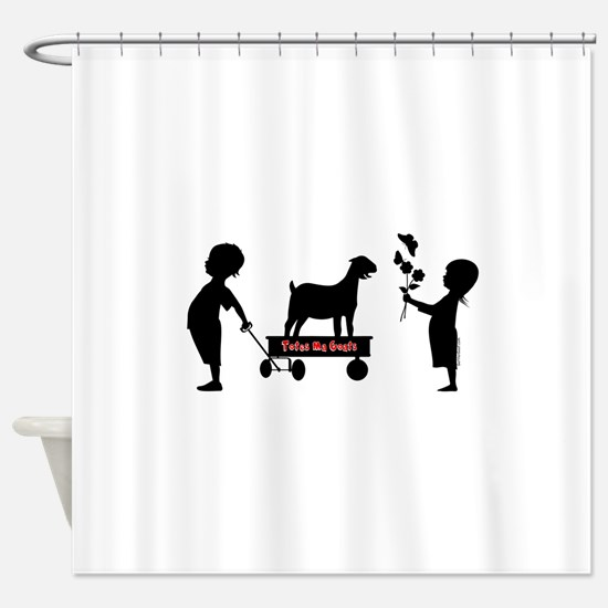 Totes MaGoats Nubian Goat Shower Curtain