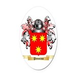 Pennino Oval Car Magnet