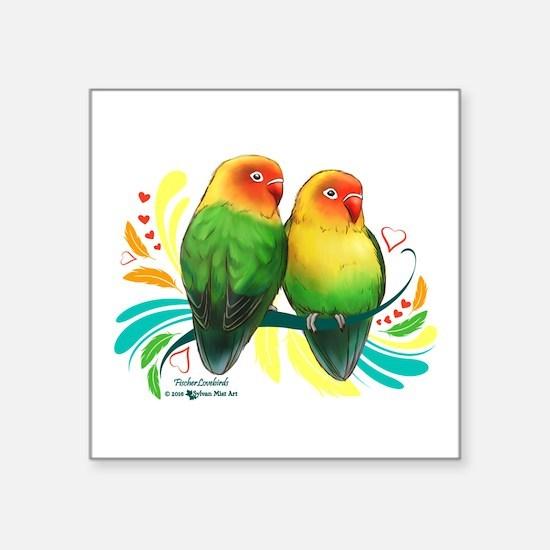 Fischer Lovebirds Sticker