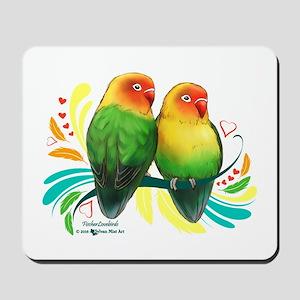 Fischer Lovebirds Mousepad