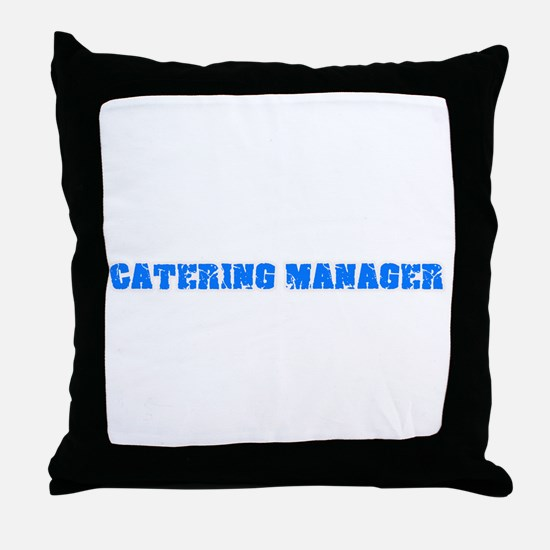 Catering Manager Blue Bold Design Throw Pillow