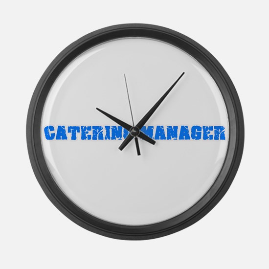 Catering Manager Blue Bold Design Large Wall Clock