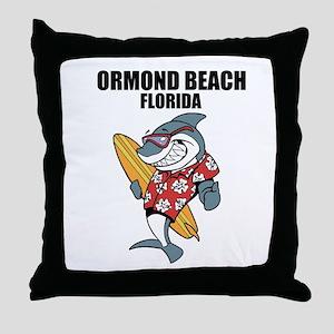 Ormond Beach, Florida Throw Pillow