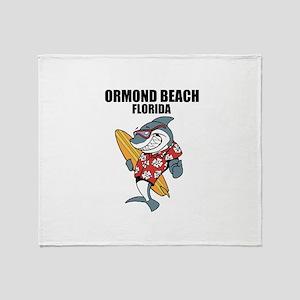 Ormond Beach, Florida Throw Blanket