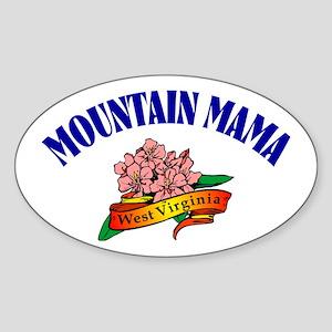 Mountain Mama Oval Sticker