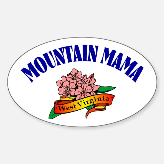 Mountain Mama Oval Decal